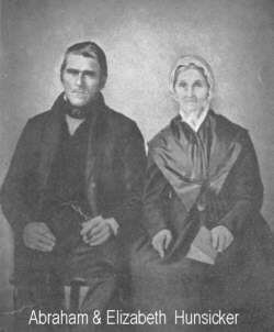 Abraham Hunsicker married Elizabeth Alderfer