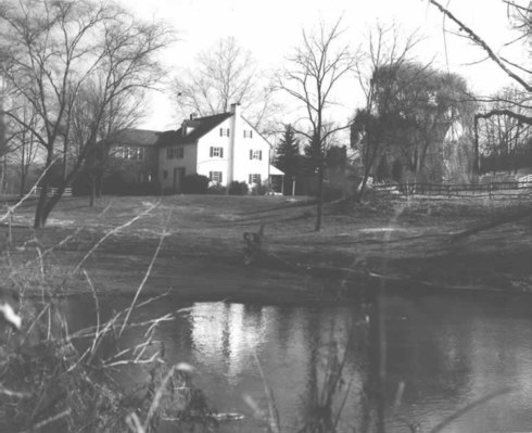 Photo of the House from across the Skippack Creek as it appeared around 1971