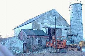 Barn before it was demolished 4/03